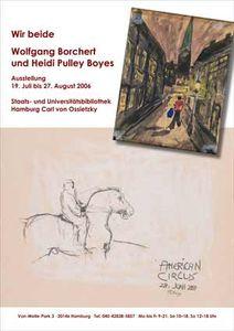 Plakat zur Borchert-Ausstellung
