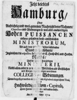 Hamburger Adressbuch von 1712