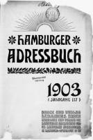 Hamburger Adressbuch von 1903