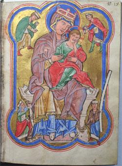 Psalterhandschrift, Thüringen / Sachsen um 1220 Pergamenthandschrift mit Einband des 18. Jahrhunderts