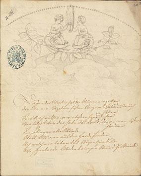 Federzeichnung zu den 'Tieck-Vignetten' (1803)