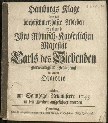 Trauermusik auf Kaiser Karl VII.