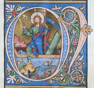 Bilderhandschrift Cod. in scrin. 1, um 1250