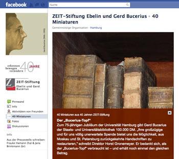 ZEIT-Stiftung auf Facebook: Stabi-Brief an Bucerius