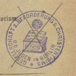 aufgefundener Provenienzvermerk (NSR A 1946/62300)