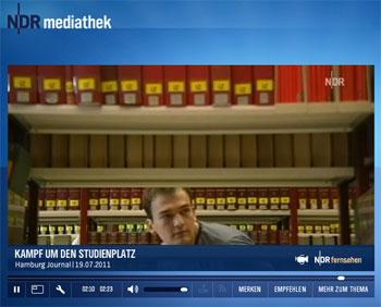 NDR-Beitrag Kampf um den Studienplatz (Mediathek)