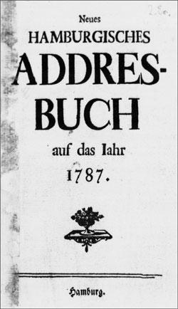 Hamburger Adressbuch 1787