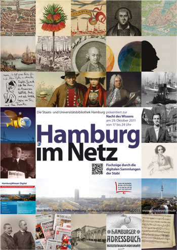 Nacht des Wissens: Stabi präsentiert 'Hamburg im Netz'