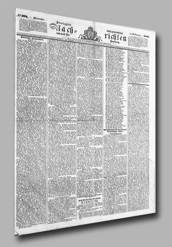 Die Hamburger Nachrichten – fast 150  Jahre Hamburger Zeitungsgeschichte
