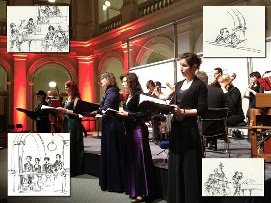 Brockes-Passion im Lichthof der Stabi (28.3.2012)
