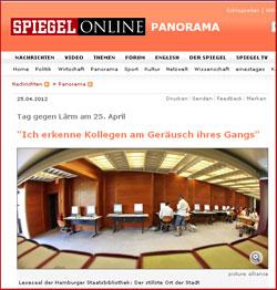 Tag gegen Lärm – Stabi-Interview auf Spiegel Online