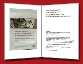 Ausstellungsheft Hans Wolffheim