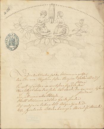 Philipp Otto Runge – Abschrift aus Tiecks 'Minneliedern' (1803)