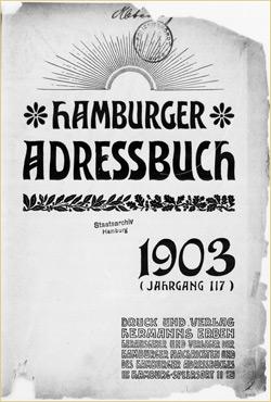 Hamburger Adressbücher - hier: Ausgabe von 1903