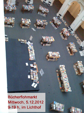 Bücher-Flohmarkt im Lichthof