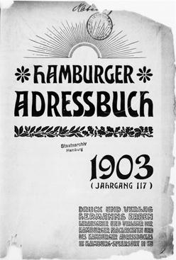 Hamburger Adressbücher – hier: Ausgabe von 1903