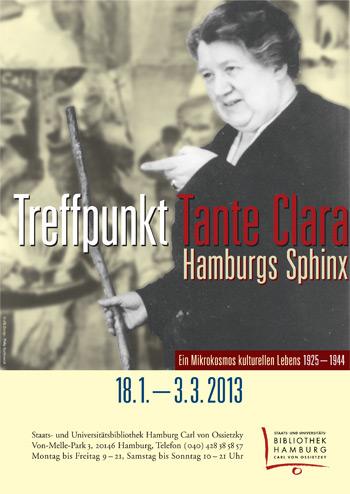 Ausstellungsplakat Treffpunkt Tante Clara