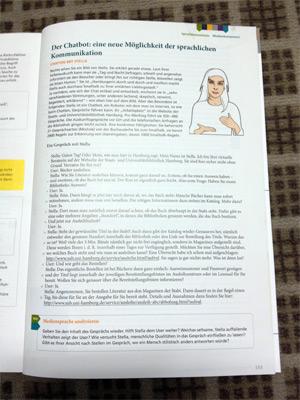 Stella im Schulbuch