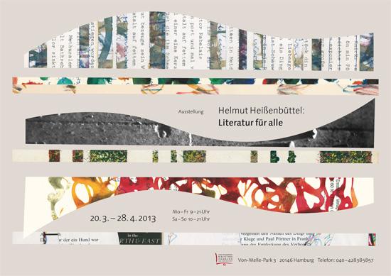 Plakat der Ausstellung Helmut Heißenbüttel: Literatur für alle