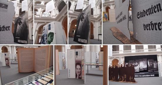 'Wo man Bücher verbrennt…' Ausstellung im Lichthof