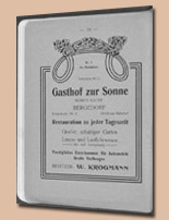 Gasthof zur Sonne - Anzeige 1904
