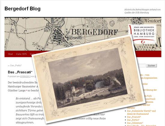 Nur einer von vielen Artikeln im Bergedorf-Blog: Frascati