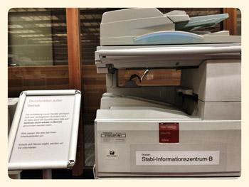 Drucken im Infomationszentrum z. Zt. nicht möglich