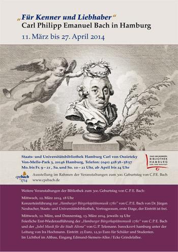 Ausstellung zum 300. Jubiläum von Carl Philipp Emanuel Bach (11.3.-27.4.)