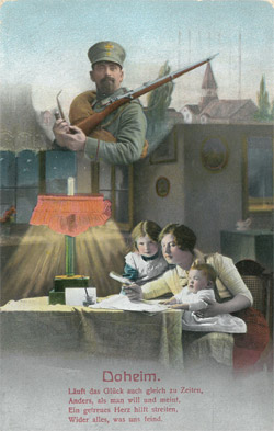 Feldpostkarte Daheim