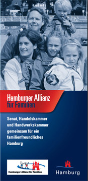 Faltblatt 'Hamburger Allianz für Familien'