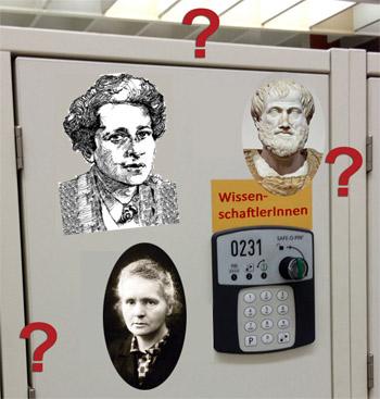 Schließfach-Namen: Wissenschaftlerinnen und Wissenschaftler