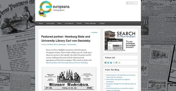 screenshot europeana newspaper