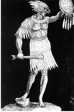 Hans Burgkmair, Figur eines indianischen Eingeborenen, um 1519
