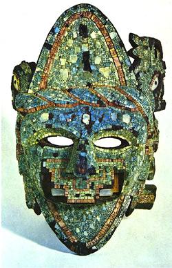 Mosaik-Maske mit Nasenschmuck, ca. 1350 - 1521