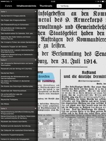 Weltbrand: Volltext-Recherche in ausgewählten Ausgaben der Hamburger Nachrichten