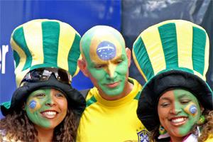 Brasilien-Fans bei der WM