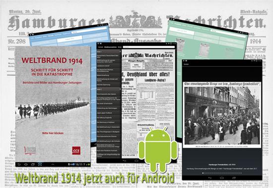 Weltbrand 1914 jetzt auch für Android-Tablets