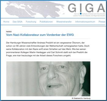 GIGA-Veranstaltung zu Andreas Predöhl