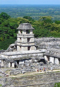 Palast in Palenque, Chiapas, Mexiko
