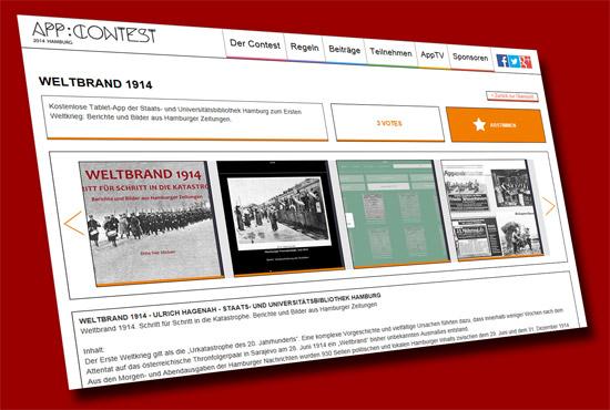 App Contest Weltbrand 1914