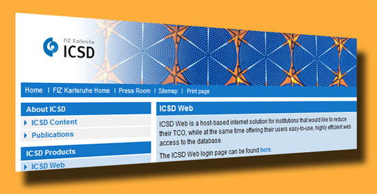 ICSD – Inorganic Crystal Structure Database
