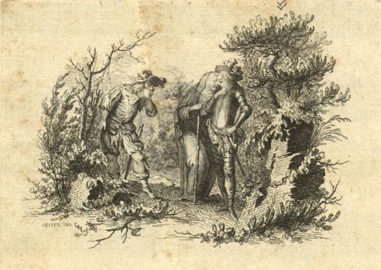 Titelillustration zu Johann Adam Hiller: Lisuart und Dariolette