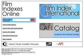 Film Indexes Online