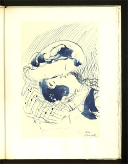 Aus: Paul Eluard, Le dur désir de durer, mit 25 Ill. von Marc Chagall. Paris 1946