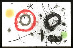 Aus: Yvan Goll, Bouquet de Rèves pour Neila, mit 18 Ill. von Jean Miró. Paris 1967