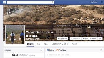 Facebook-Gruppe 'Yo tambien cruce la frontera'