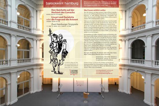 Zwei Hamburger Singspiele im Lichthof der Stabi