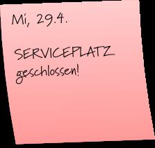 Serviceplatz-geschlossen