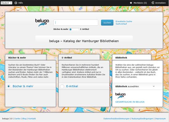 beluga – der neue Katalog der Stabi