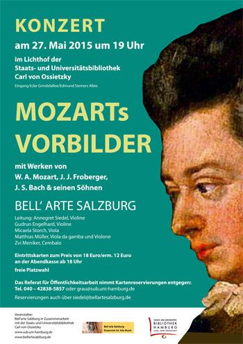 Plakat Mozarts Vorbilder